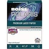 Boise BPL0111 POLARIS Premium Laser Paper, 98 Bright, 24lb, 8 1/2 x 11, White. 500 Sheets