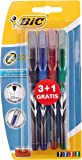 BiC Z4 Needle Point Rollerball Pen (Pack of 3, Plus 1 Free)