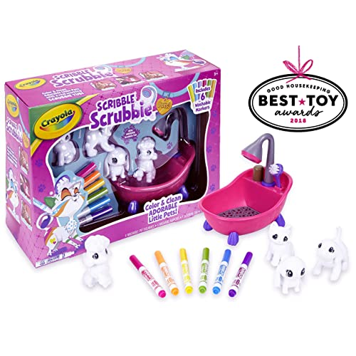 Crayola Scribble Scrubbie Toy Pet PlaysetGift For Kids Age 3 4