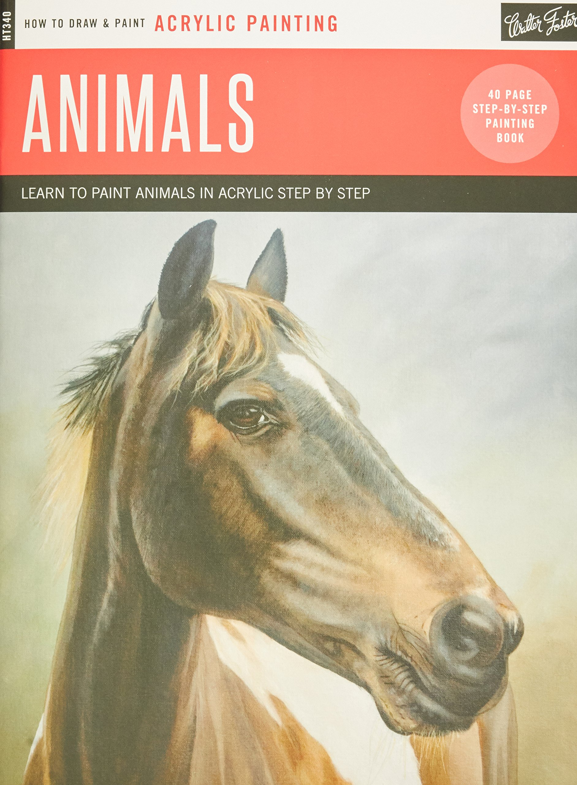 Acrylic: Animals: Learn to paint animals in acrylic step by step - 40 page step-by-step painting book (How to Draw & Paint)