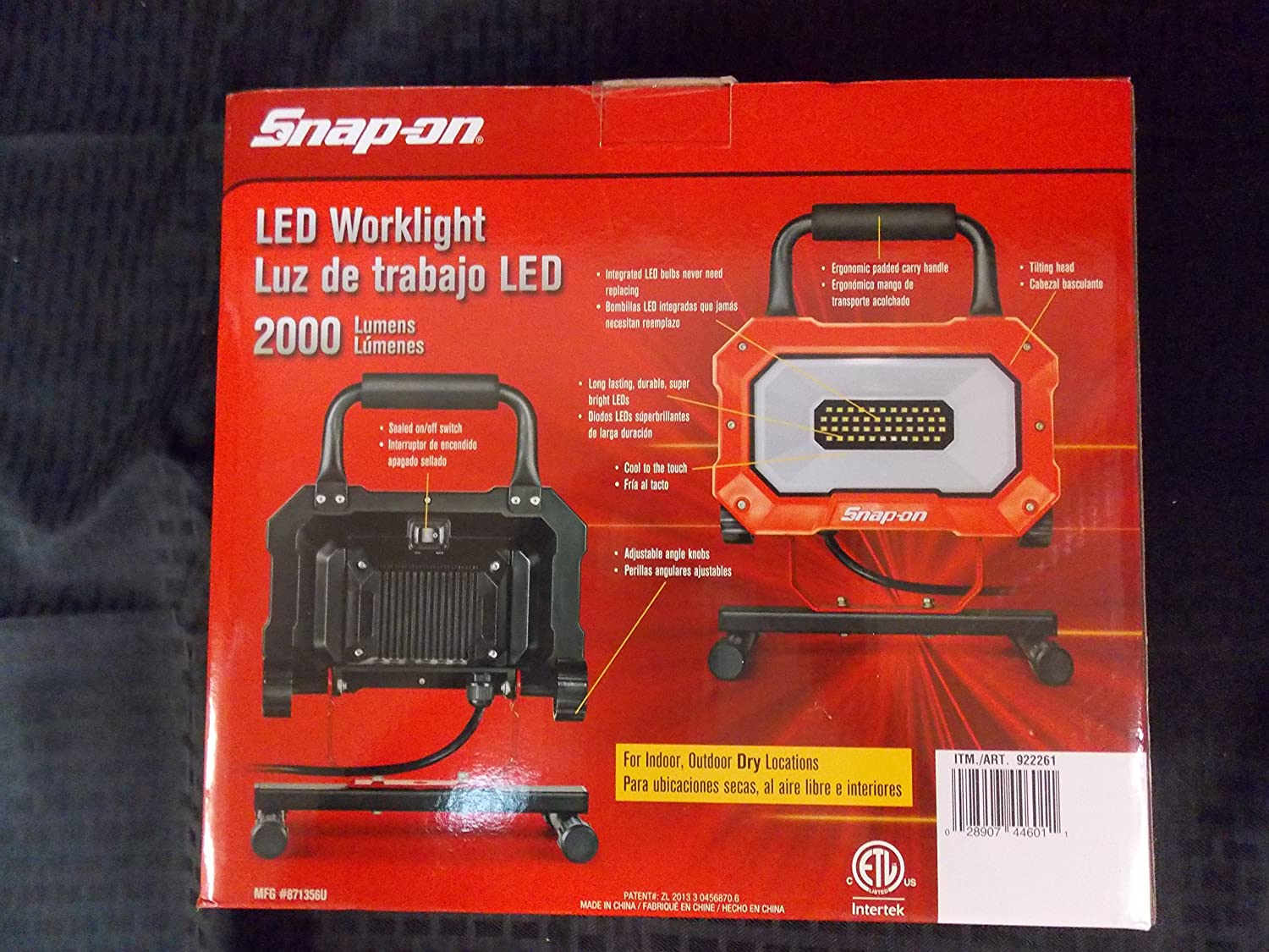 Snap-On LED Worklight 25 Wattage=2000 Lumens, Awesome Worklight, Part #922261 - - Amazon.com