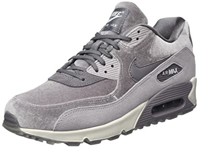 Nike WMNS Air Max 90 LX 898512-007 Gunsmoke Grey Velvet Suede Women s Shoes 17ad637d16