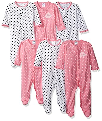 a0b90e79bf Amazon.com  Gerber Baby Girls  6-Pack Grow-with-Me Sleep  N Play ...