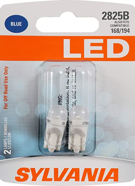 Amazon.com: SYLVANIA - 2825 T10 W5W LED Blue Mini Bulb - Bright LED Bulb, Ideal for Interior Lighting (Contains 2 Bulbs): Automotive
