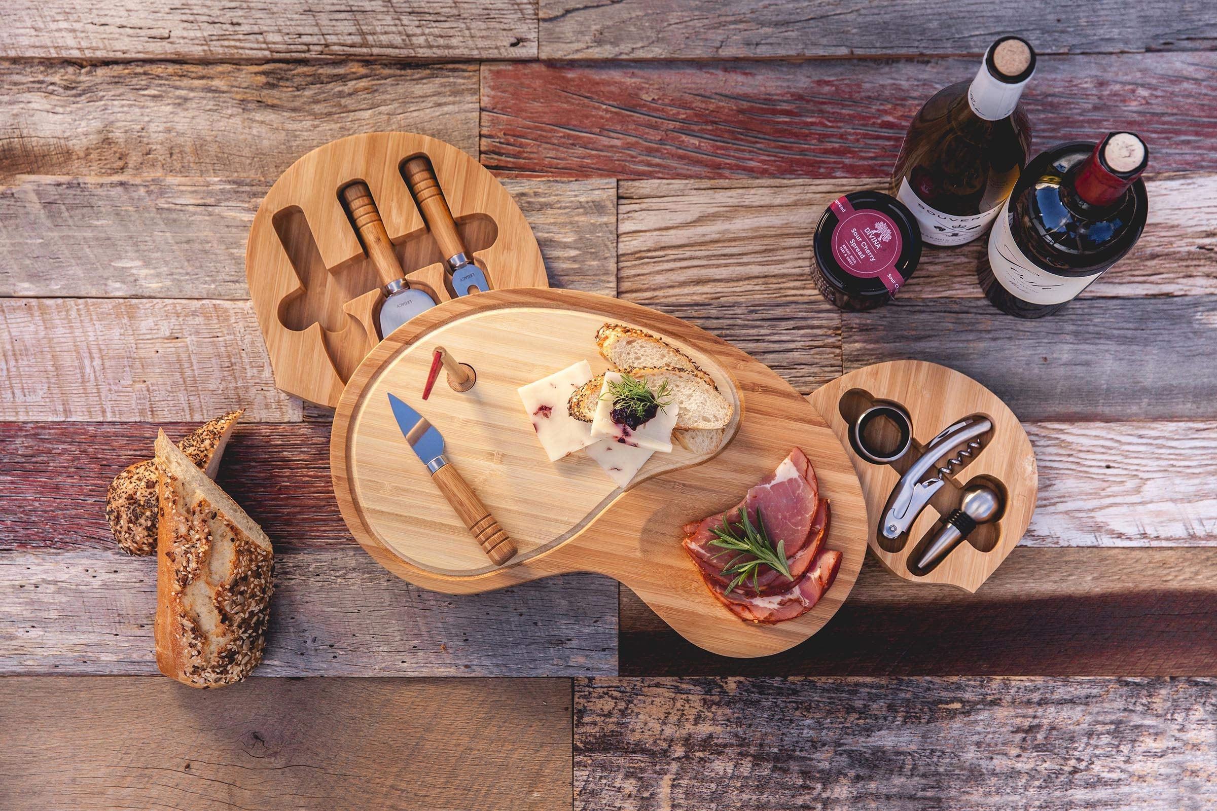 TOSCANA - a Picnic Time Brand Sand Trap Cheese Board and Tool Set by TOSCANA - a Picnic Time brand (Image #4)