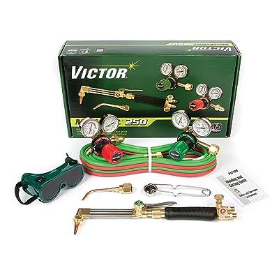 Victor Technologies 0384-2540 Medalist 250 System Medium Duty Cutting System, Acetylene Gas Service, G250-15-510 Fuel Gas Regulator: Gas Welding Accessories: Industrial & Scientific
