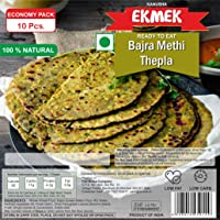 EKMEK, Ready to EAT, BAJRA Methi THEPLA (ઢેબરાં) 10 Pcs