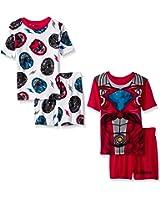 Power Rangers Boys 4 Piece Pajamas Set (Little Kid/Big Kid)
