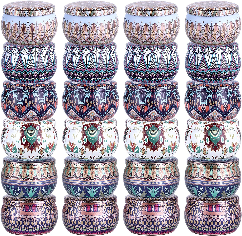 Pack de 24 latas para Velas. 118 ml (Mandalas)
