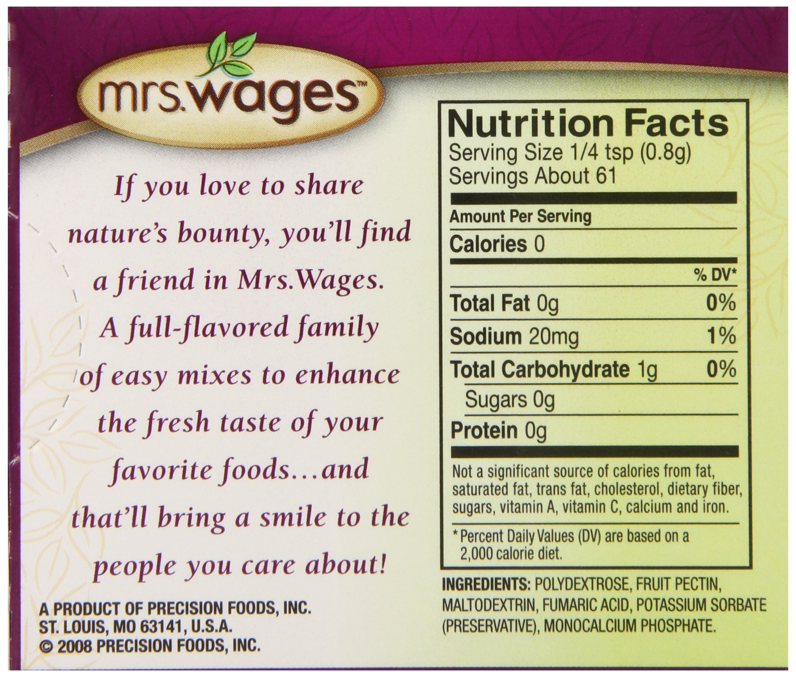 Mrs. Wages Lite Home Jell Fruit Pectin, 1.75-Ounce Pouches (Pack of 12) by Mrs. Wages (Image #4)