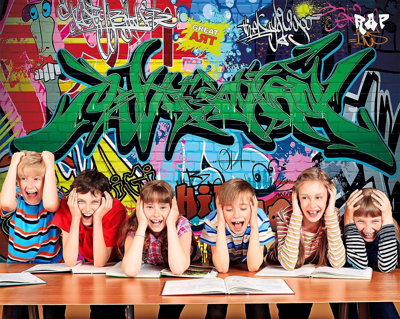 Amazon com great art poster graffiti wall decoration colourful street writing wallpaper pop art mural style hip hop rap 55 inch x 39 4 inch 140 cm x