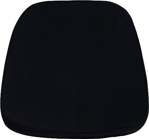 Best living room chair: Flash Furniture 22 Pack Soft Black Fabric Chiavari Chair Cushion