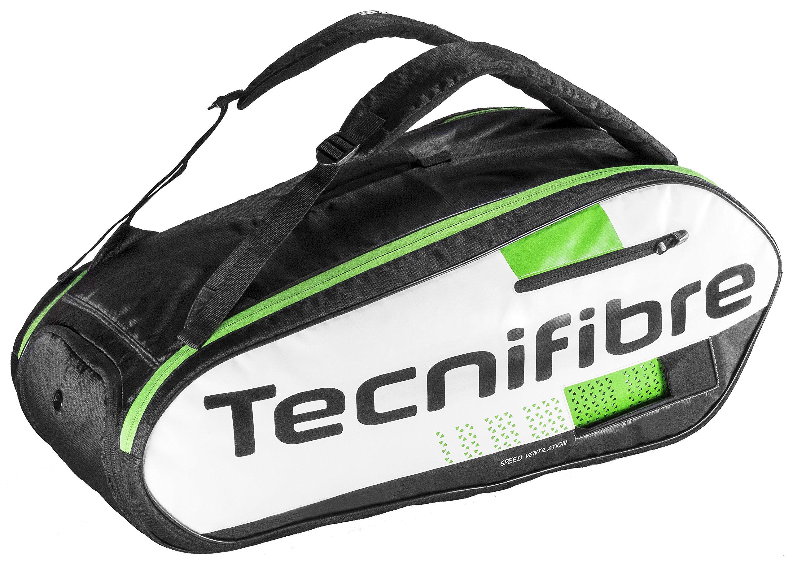 Tecnifibre Squash Green 9 Racquet Bag by Tecnifibre