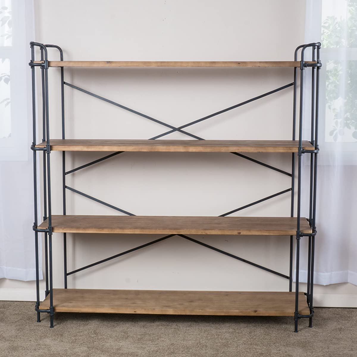 Great Deal Furniture Denise Austin Home Mercia 4-Shelf Bookcase