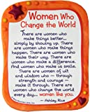 """Sculpted Magnet: Women Who Change the World, 3.0"""" x 3.5"""""""