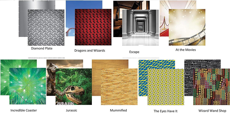 5 Sheets Diamond Plate Scrapbook Paper Universal Studios Worlds of Adventure