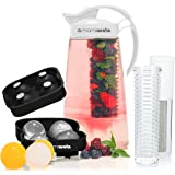 Fruit & Tea Infusion Water Pitcher - The PERFECT Christmas Gift - Free Ice Ball Maker - Free Infused Water Recipe…