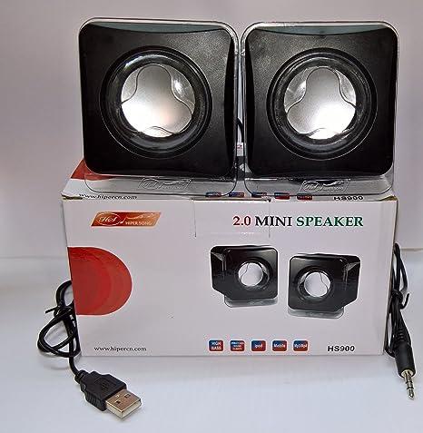 hiper song USB 2.0 Mini Speaker  Black  PC Speakers