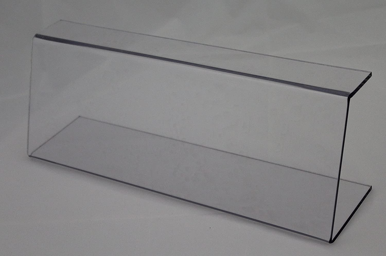 Roos Thekenaufsatz, Spuckschutz, Hustenschutz, 500 mm lang, 240 mm hoch, aus PETG, nahrungsmittelverträglich Kunststofftechnik Roos