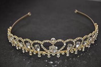 Flomans Tiara Für Goldene Hochzeit Brautschmuck Diadem Gold Ts00065