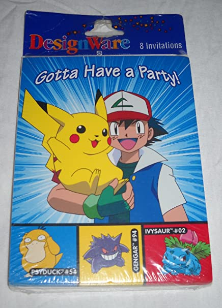 amazon com pokemon invitations 8 count toys games