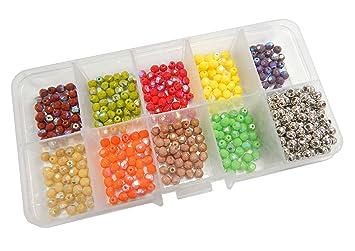 404 15 Glas Perlen gelb Glasperlen Kugeln rund 8mm Bastelsteine Schmuckperlen