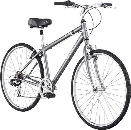 Amazon Com Diamondback Men S 2012 Kalamar Hybrid Bike Silver