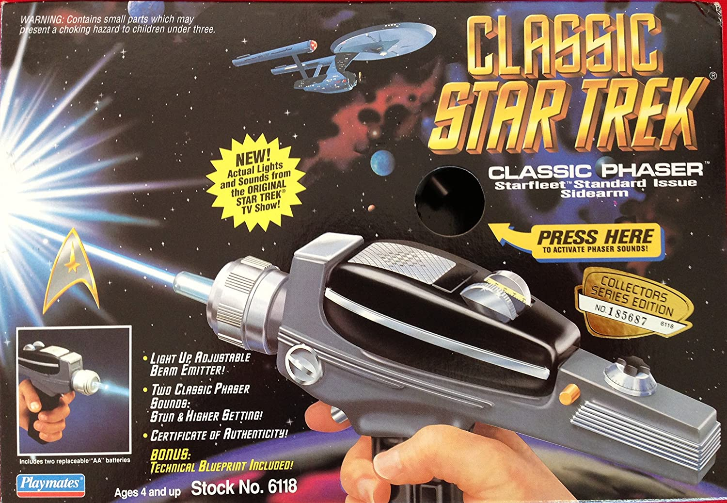 Star Trek Classic Phaser with Lights and Sounds B0018AGHL2