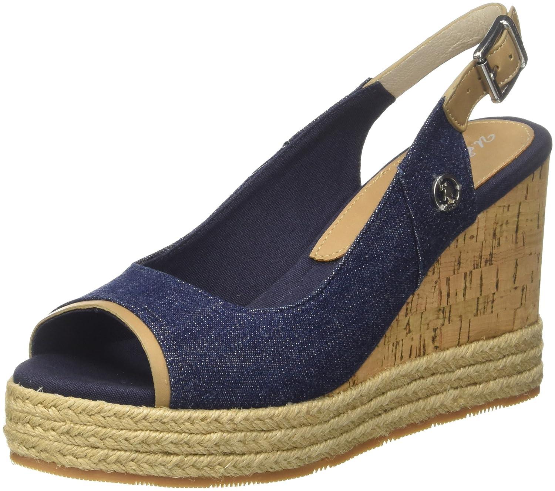 U.S.POLO Sandales ASSN. Topazia Jeans, Sandales Bout Ouvert Jeans) U.S.POLO Femme Bleu (Jeans Jeans) 290d049 - shopssong.space