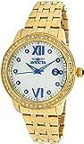 Invicta 23662 Women's Angel Crystal Accented Bezel MOP Dial Yellow Gold Steel Bracelet Watch