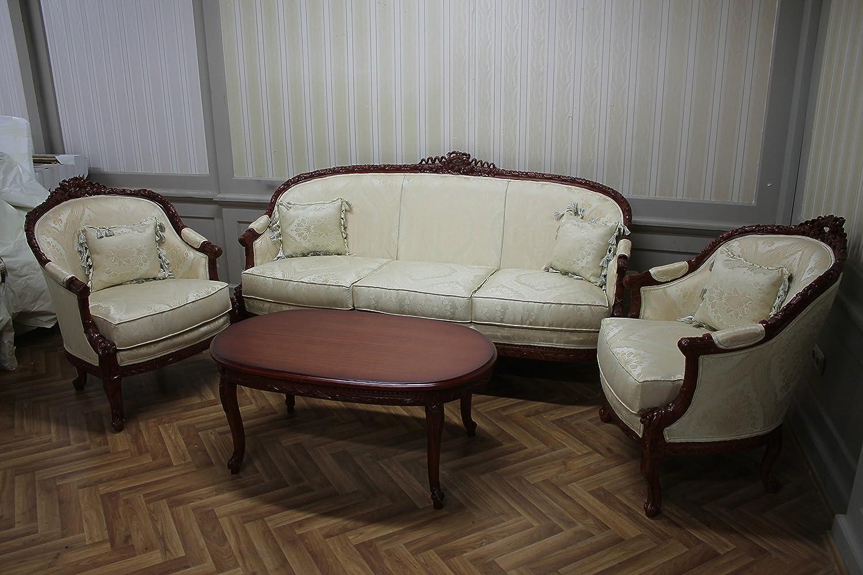 LouisXV Estilo Barroco salón de Estilo Antiguo 4 sillas 1 ...