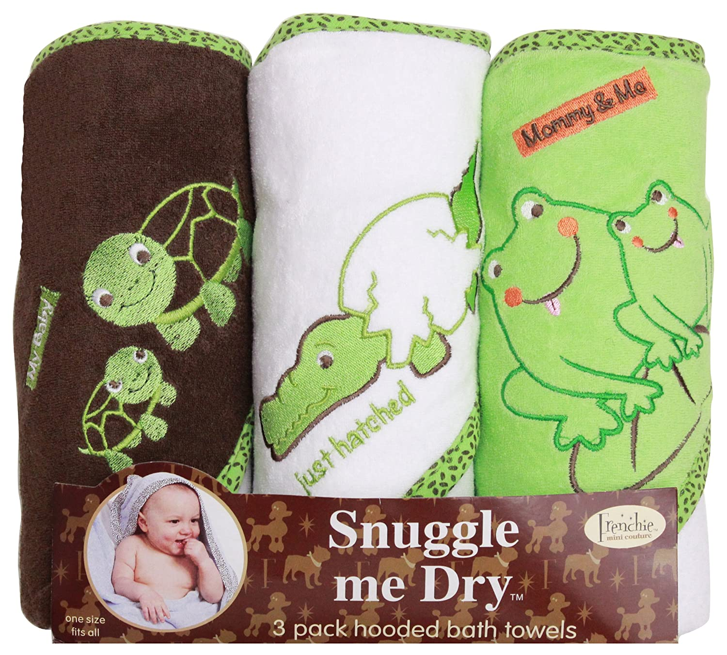 Grenouille/Aligator/Turtule Hodded serviette de bain Set Frenchie Mini Couture 15