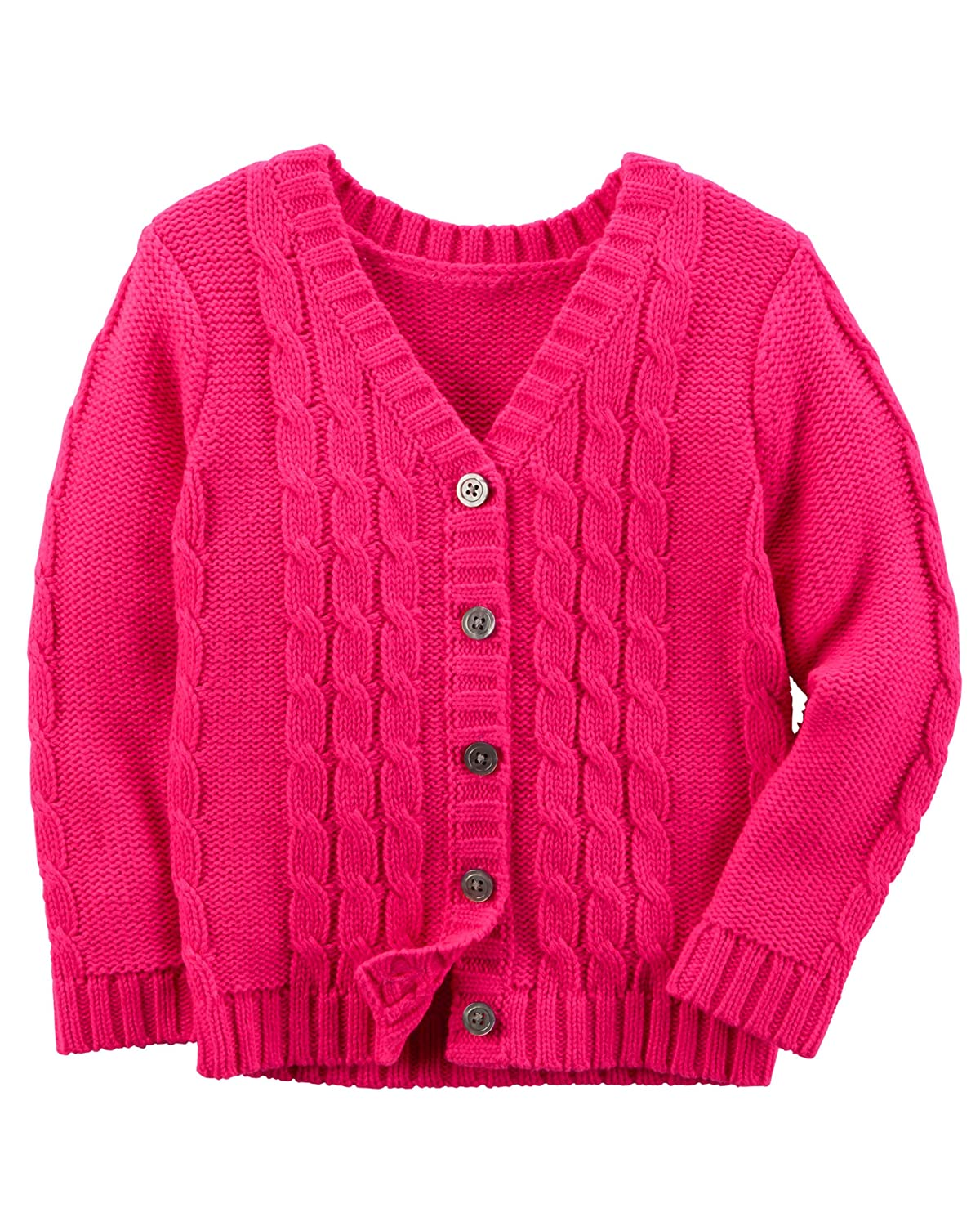 enjoy complimentary shipping Good Prices choose best Amazon.com: Carter's Girl's Hot Pink V Neck Knit Button ...