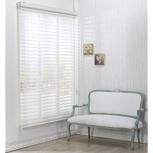 72 inch wide blinds vinyl custom cut to size winsharp triple 55pd white 91 blinds for bay window amazoncom