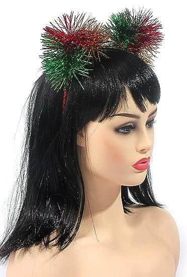 Amazon.com   Cat Ears Headband Tinsel Kitten Ear Hair Hoop Accessories  Cosplay Party Fascinators Headwear for Girls and Women (Multi-Colors)    Beauty a7282931cf5