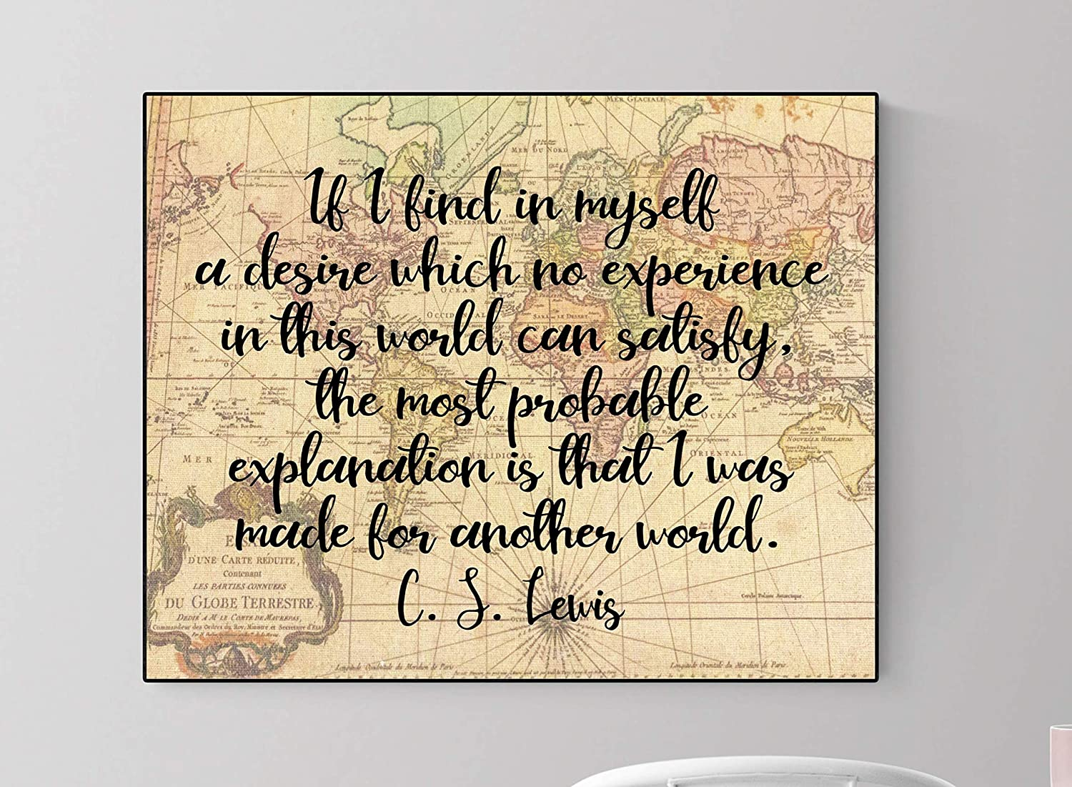 CS Lewis Made for Another World | Art Print (8x10)