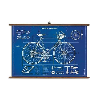 Amazon cavallini papers co inc bicycle blueprint cavallini cavallini papers co inc bicycle blueprint cavallini vintage school chart malvernweather Images