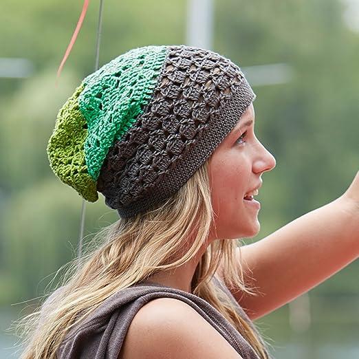 Tolle Beanie Für Den Sommer In Grüntönen Zum Selber Häkeln Diy
