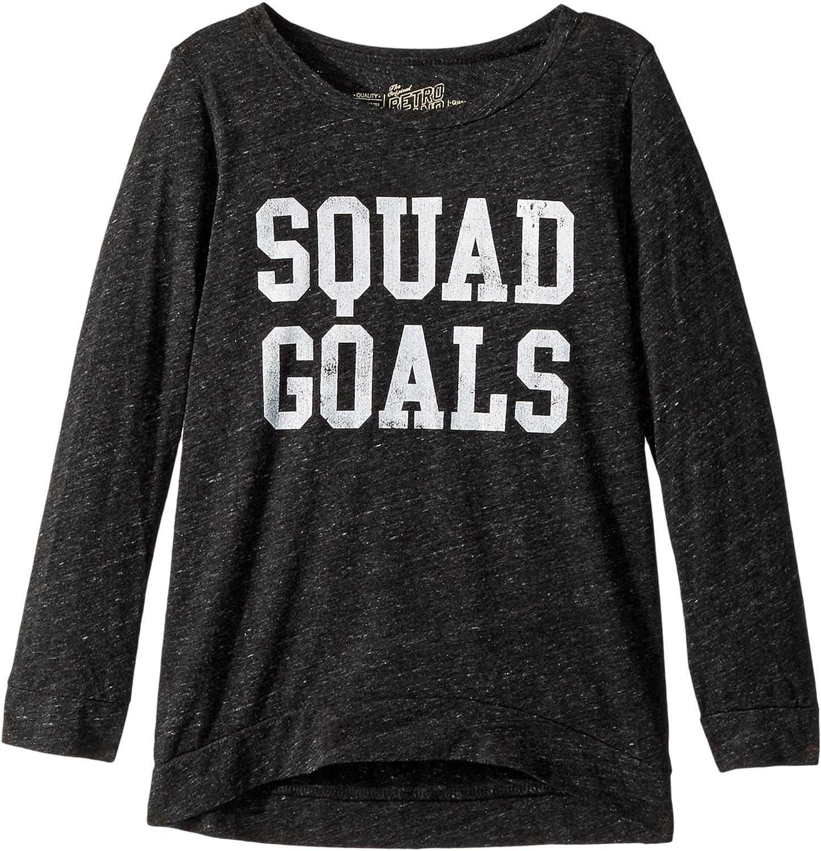 The Original Retro Brand Kids Womens Squad Goals 3//4 Pullover Big Kids