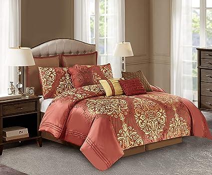 Amazon Com Wonder Home 10 Pc Luxury Royal Comforter Set Jacquard