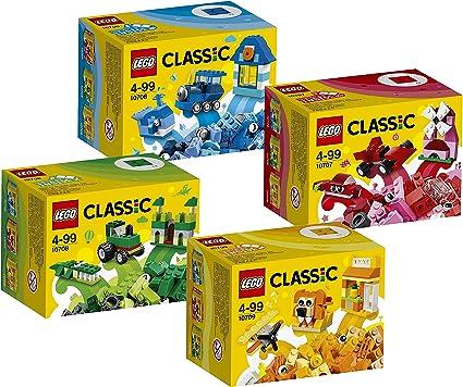 Lego Piezas de Lego set que consta de 4 piezas: 10706 azul, 10707 ...