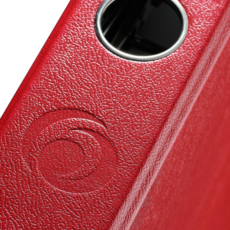 File Protect A4/5/cm with Slip-in Spine Label 5450309/Folder Red Black Herlitz max