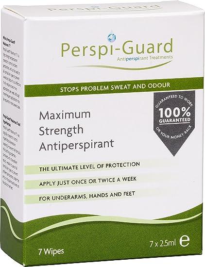 Perspi-Guard Toallitas antitranspirantes de máxima resistencia, 7 unidades