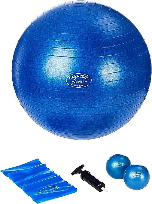Carnegie Pilates Juego Toning Pelotas 450 g Pilates Banda 120 cm ...