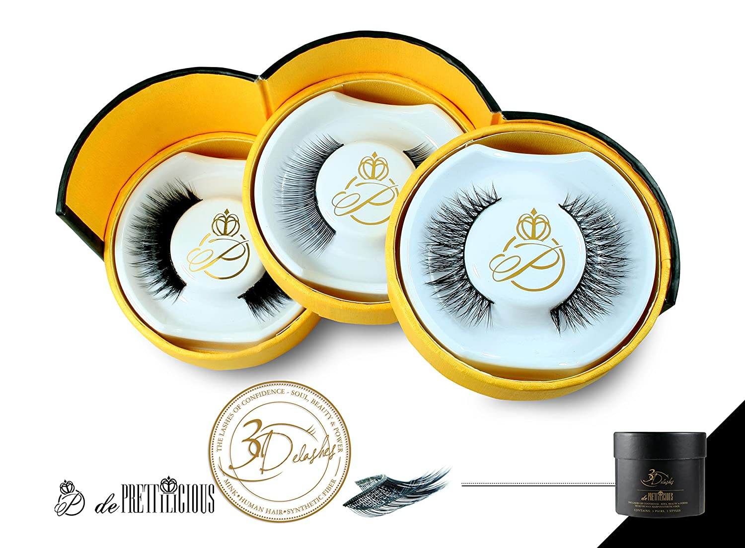 CLEARANCE SALES! 3-IN-1 Lash Collection. Mink + Human Hair + Synthetic Fiber. 3 Pairs layes False eyelashes/ lashes/ lash/ falsie/ fake eyelashes. FREE BEAUTY E-BOOK. 100% Satisfaction Guarantee. 100% Risk Free Guarantee.