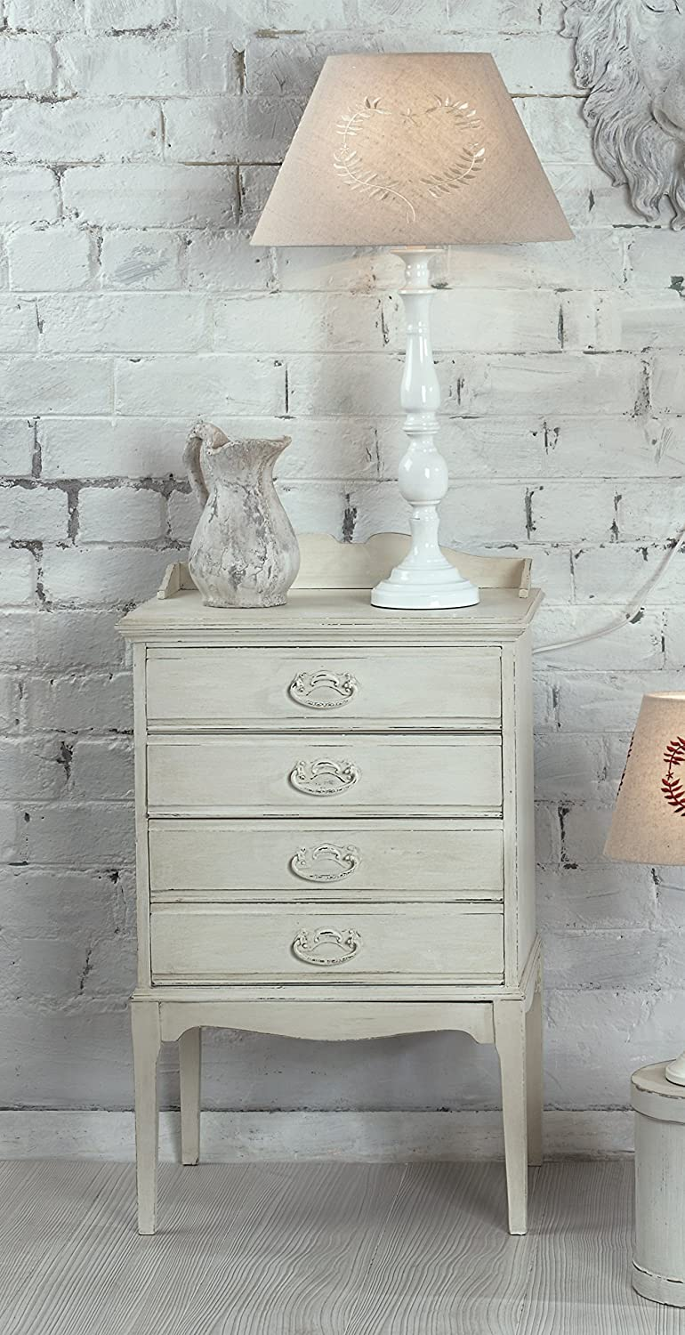 Vintage Shabby Chic Style Distressed Beige Tall Table Lamp Amazon