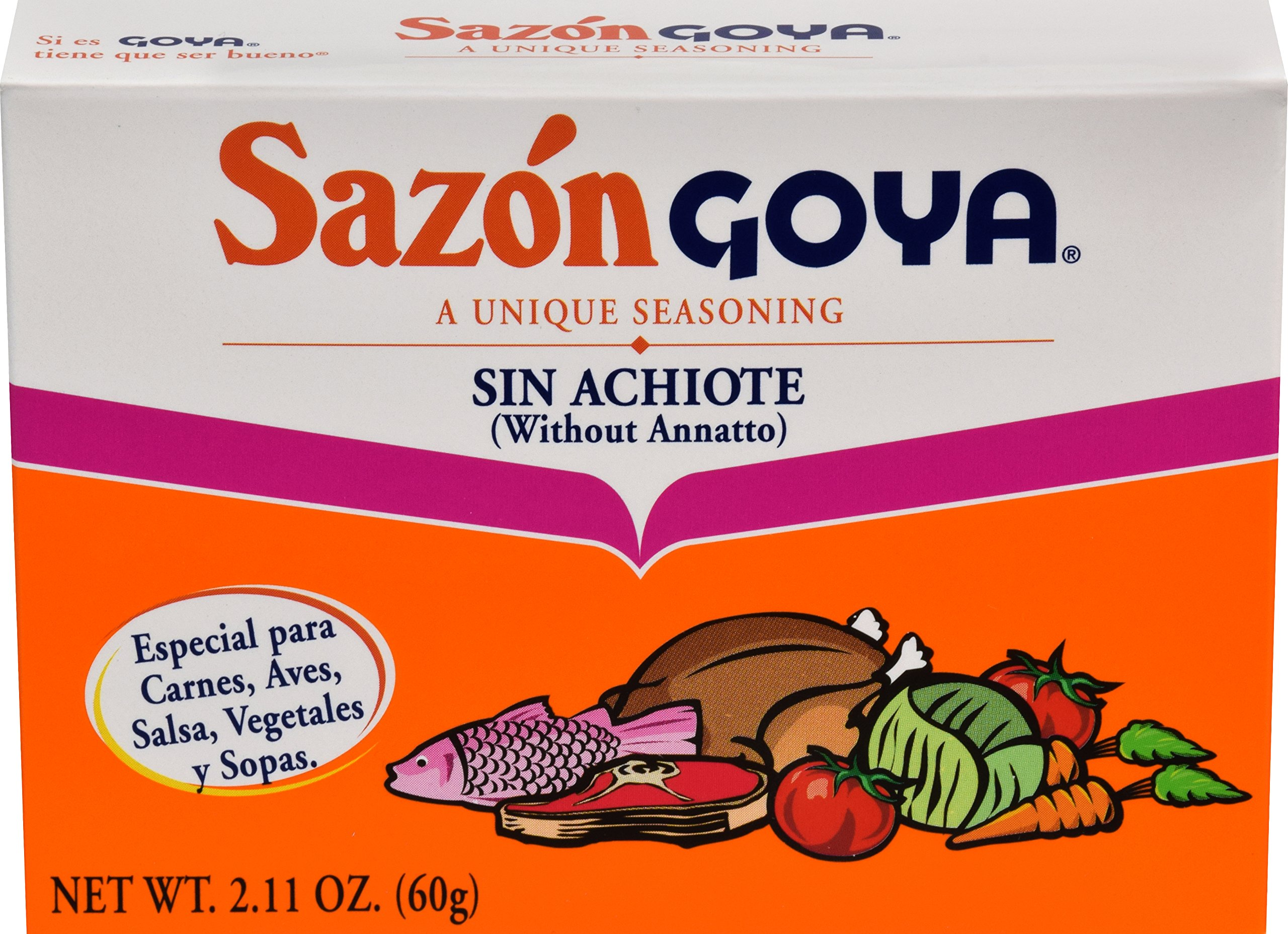 Goya Foods Sazon Original Seasoning Family Size, 2.11-Ounce (Pack of 24)