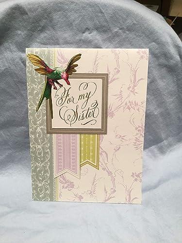 Amazon Com Handmade Sister Birthday Pop Up Card Handmade