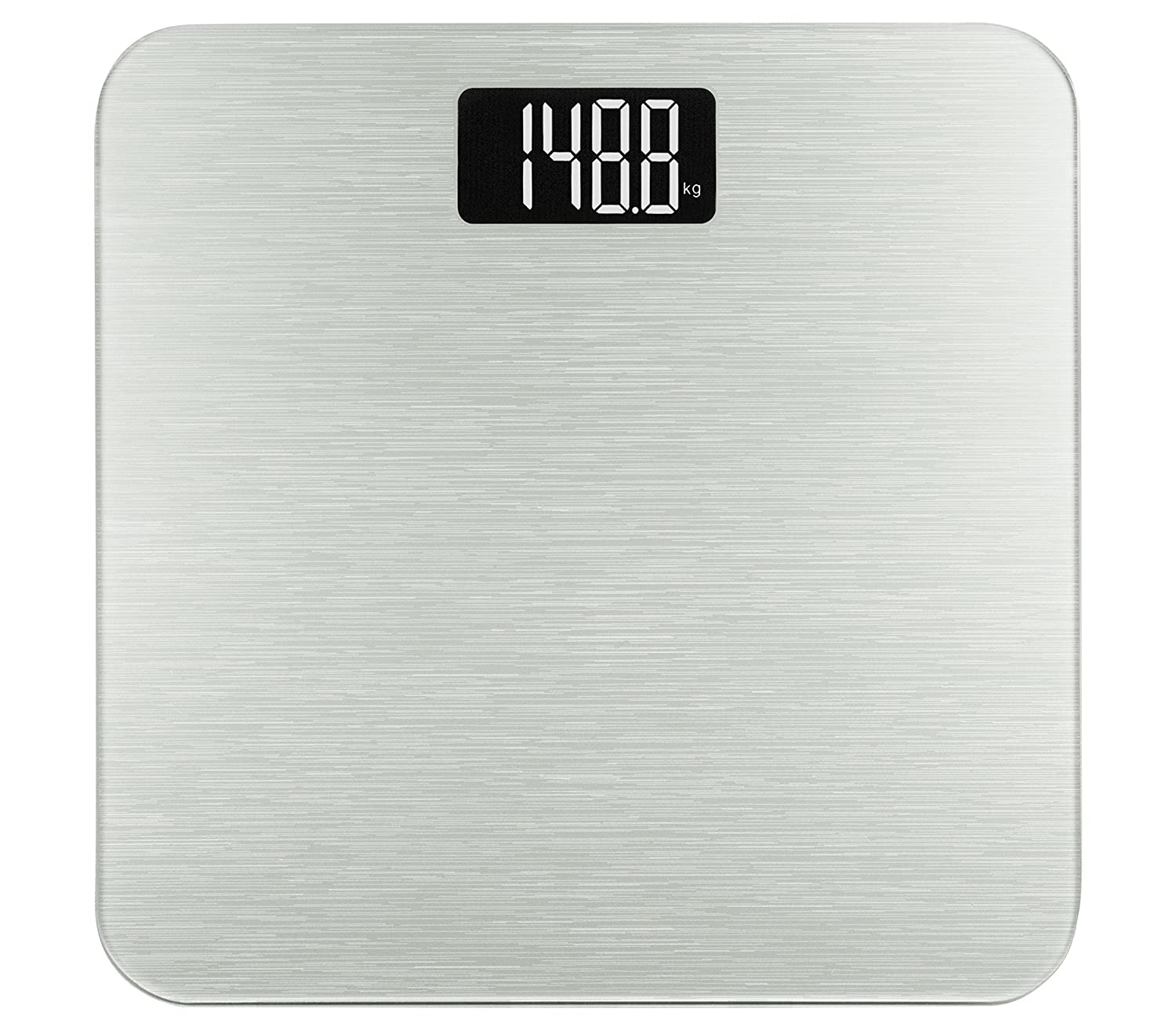 Amazon scale bathroom - Amazon Com Smart Weigh Digital Body Weight Scale Tempered Glass Step On Technology 400 Pounds Silver Health Personal Care