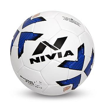 Nivia SHINING STAR Rubber Football, Size 5,  Multicolour